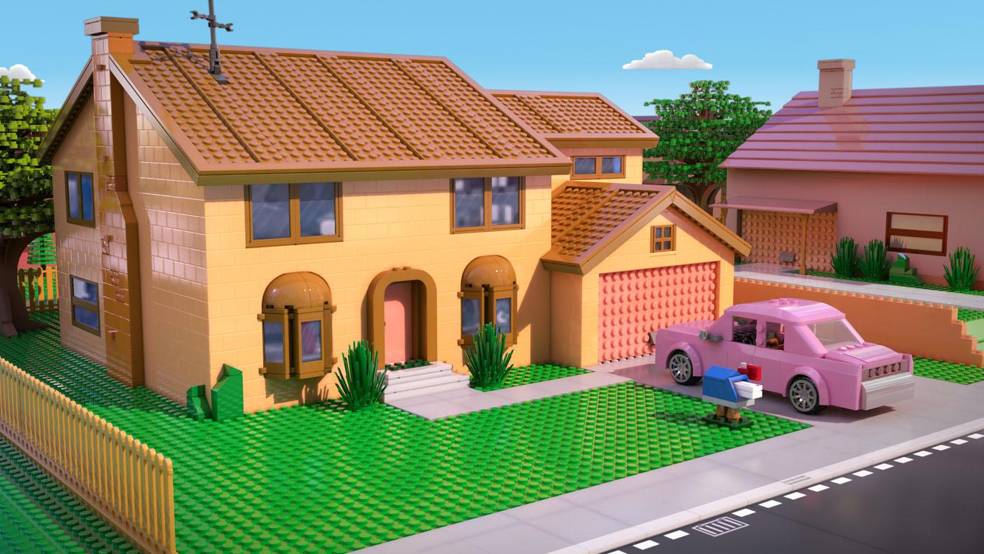 publication  quot L     233 pisode des Simpson en Lego se d  233 voile en photosLego Simpsons House