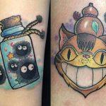 Athena Chan best of tattoo totoro chat bus catbus neko miyazaki