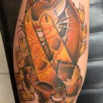 Dan Korkuc best of tattoo totoro chat bus catbus neko miyazaki