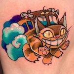 Iris Knippels best of tattoo totoro chat bus catbus neko miyazaki