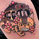 Josh Mcallister best of tattoo totoro chat bus catbus neko miyazaki