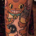 Karina Marchant best of tattoo totoro chat bus catbus neko miyazaki