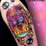 Laura Anunnaki best of tattoo totoro chat bus catbus neko miyazaki