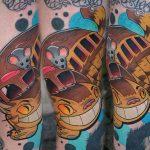 Lehel best of tattoo totoro chat bus catbus neko miyazaki