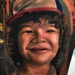 Codey Doran stranger things geek peau best of tattoo