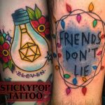 Matt Daniels stranger things geek peau best of tattoo