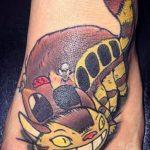 best of tattoo totoro chat bus catbus neko miyazaki
