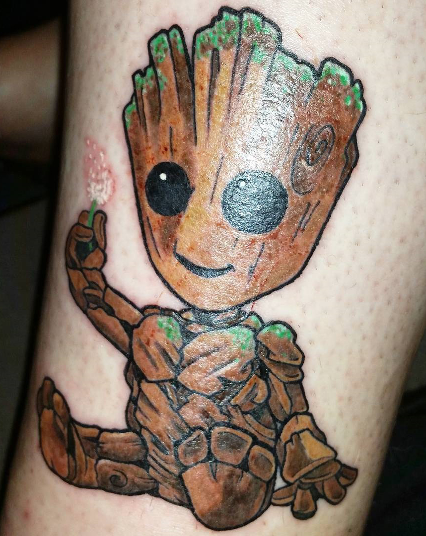 best groot tattoo pictures to pin on pinterest tattooskid. Black Bedroom Furniture Sets. Home Design Ideas