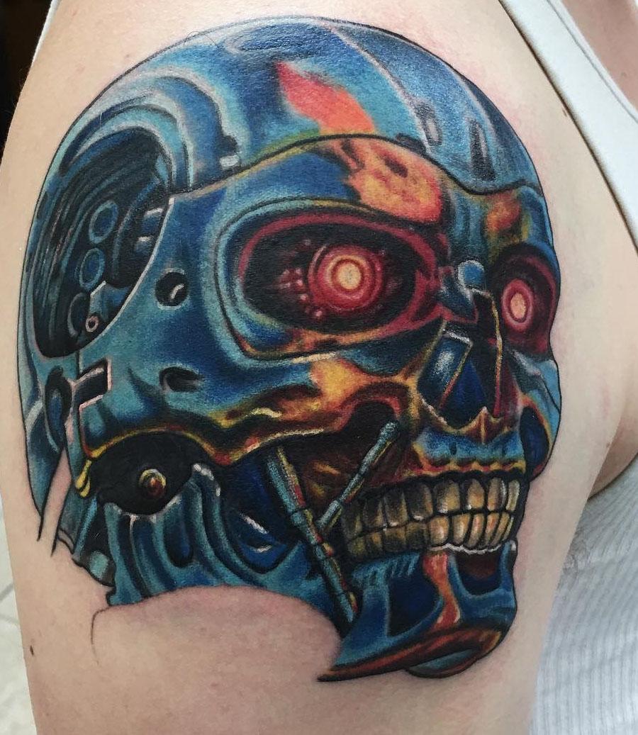 Geek dans la peau 71 terminator techartgeek for Wild zero tattoo