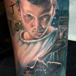 Joe K Worrall stranger things geek peau best of tattoo