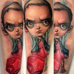 Kelly Doty stranger things geek peau best of tattoo